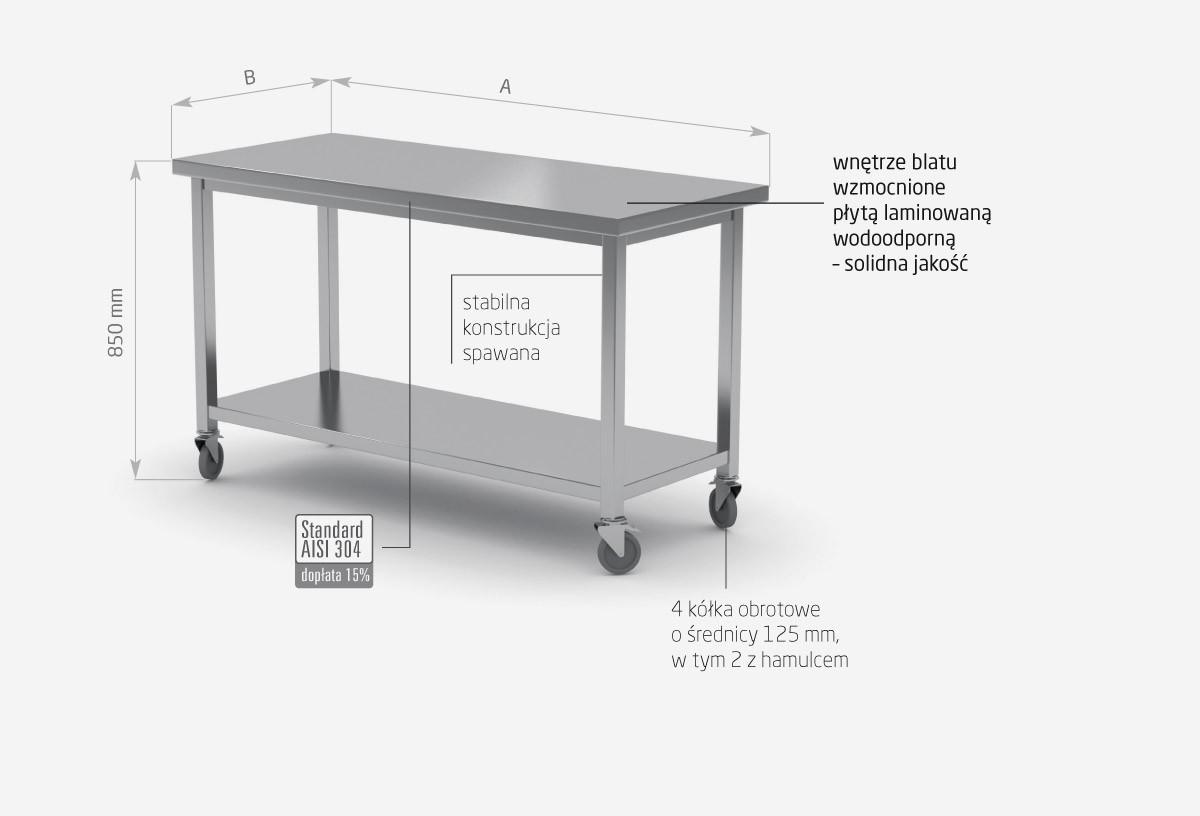 Stół jezdny z półką - POL-104