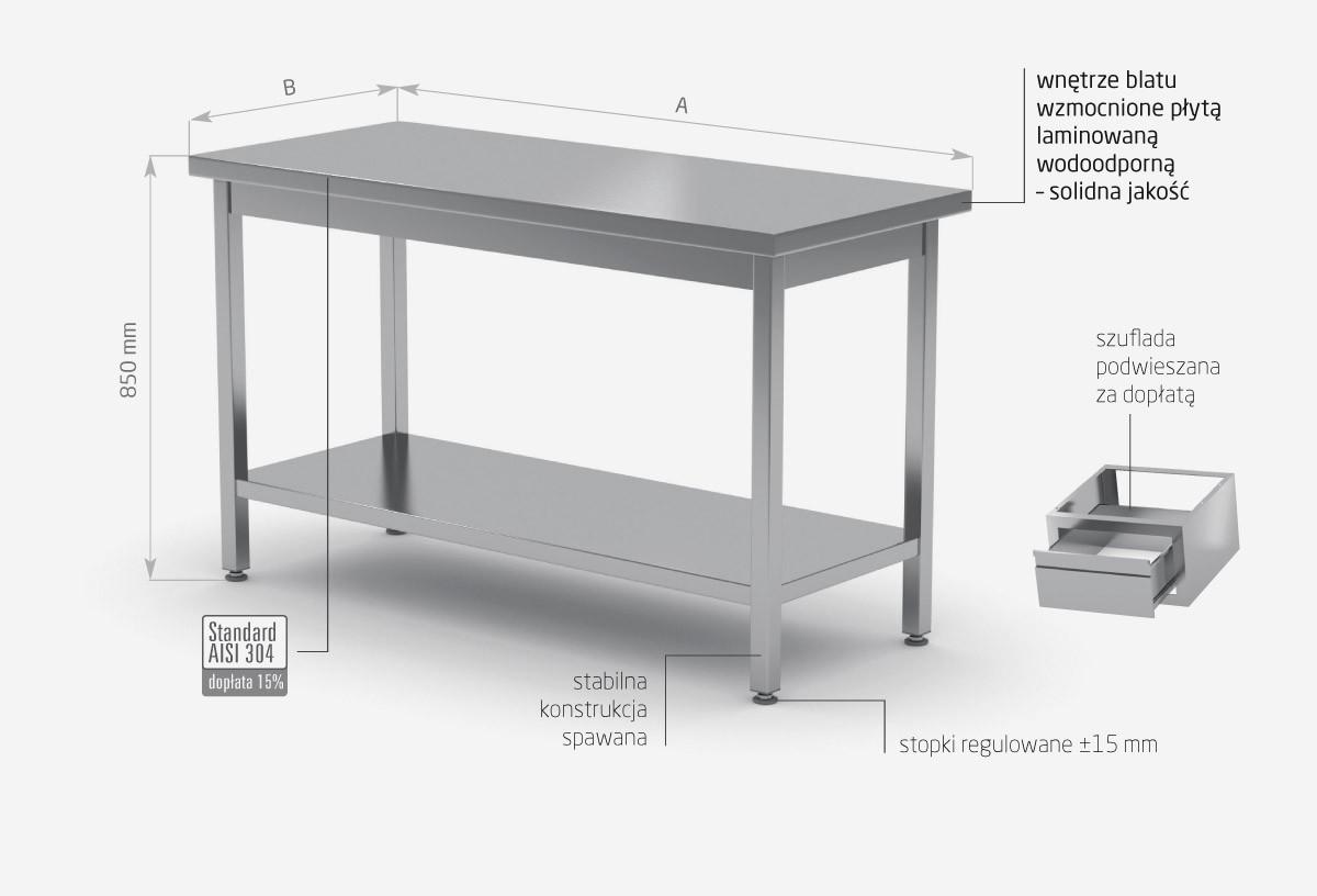 Stół centralny z półką - POL-112