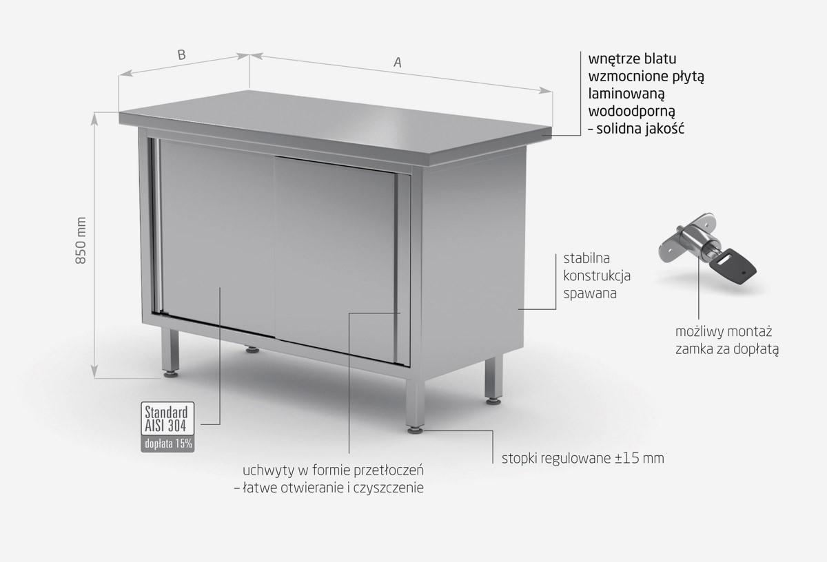 Stół centralny przelotowy z drzwiami suwanymi - POL-127P