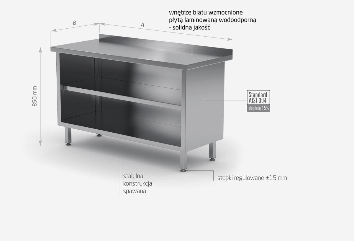 Stół przyścienny szafka otwarta - POL-129
