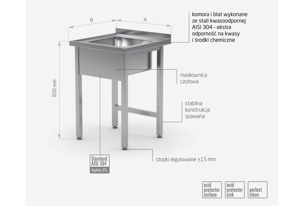 Stół ze zlewem bez półki - POL-211