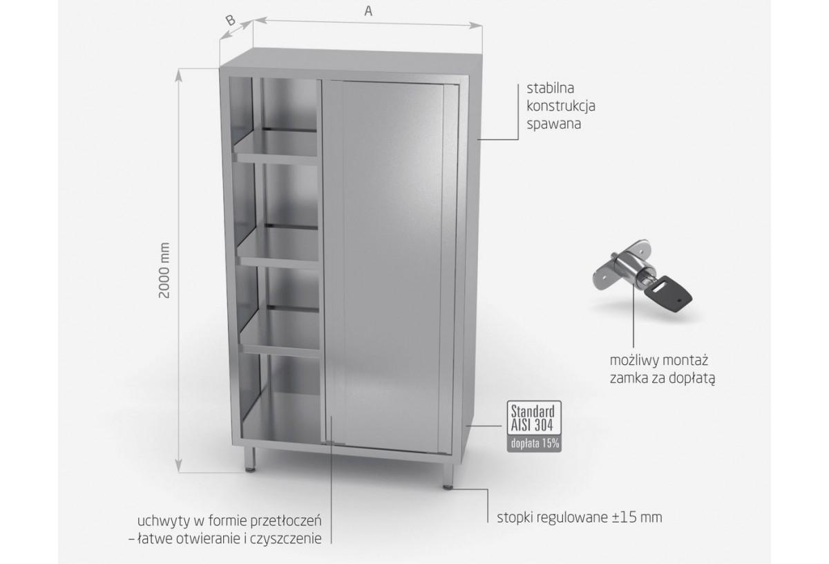 Szafa magazynowa z drzwiami suwanymi - (h) 2000 mm POL-301-2