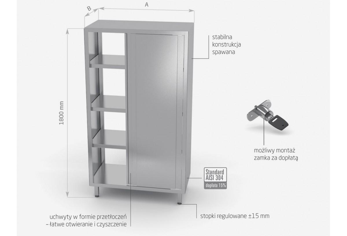 Szafa przelotowa z drzwiami suwanymi h: 1800 mm - POL-311