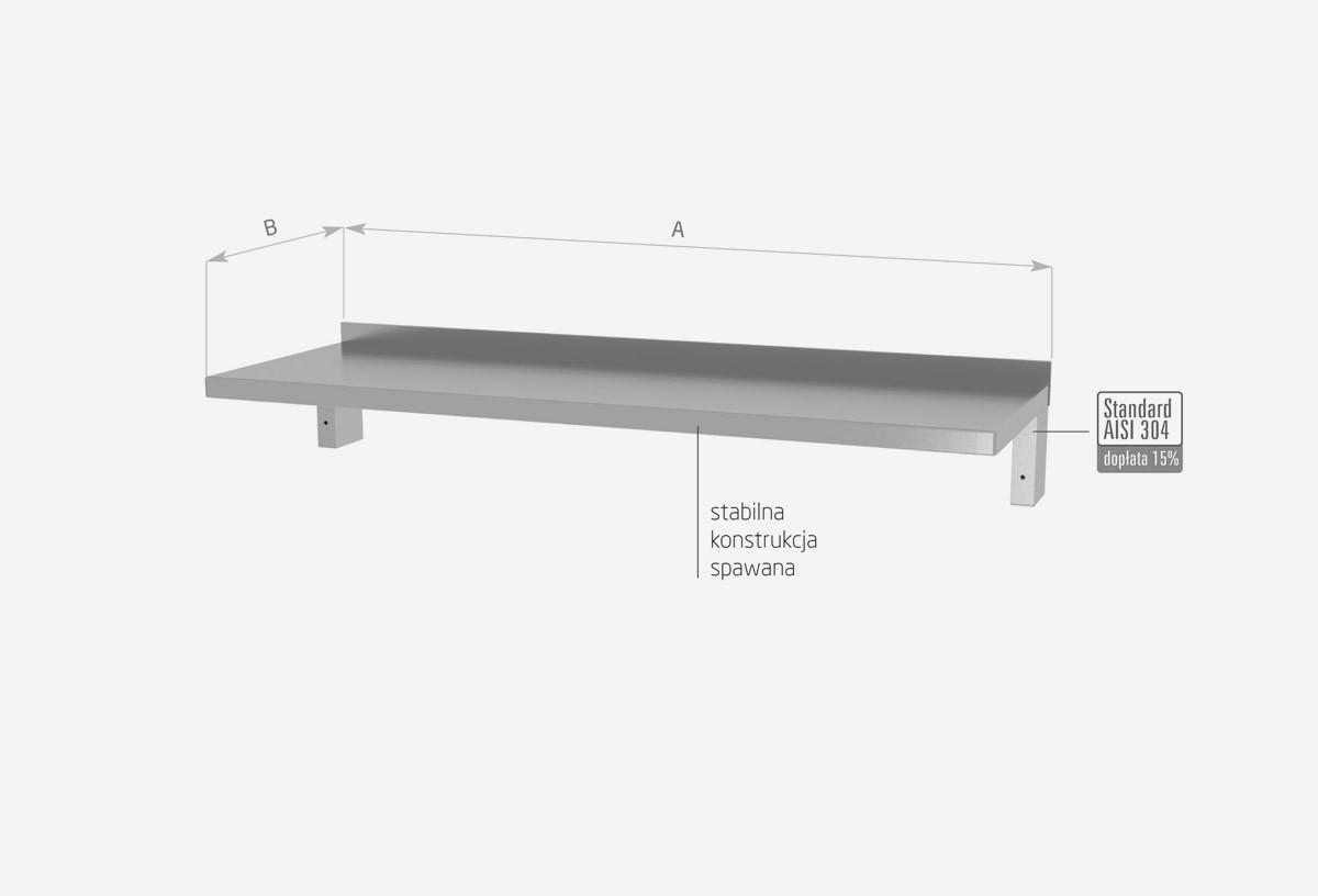 Półka wisząca pod urządzenia, wzmocniona - POL-383