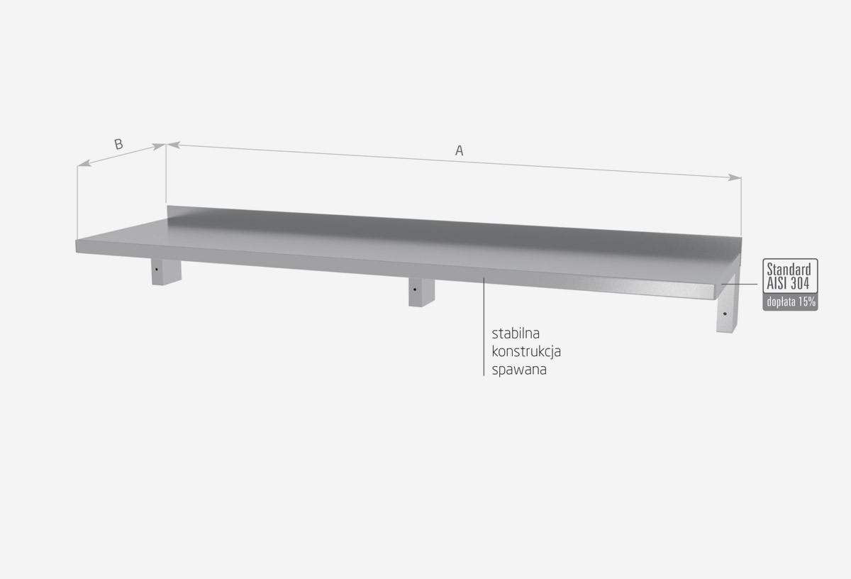 Półka wisząca pod urządzenia, wzmocniona - POL-383-3