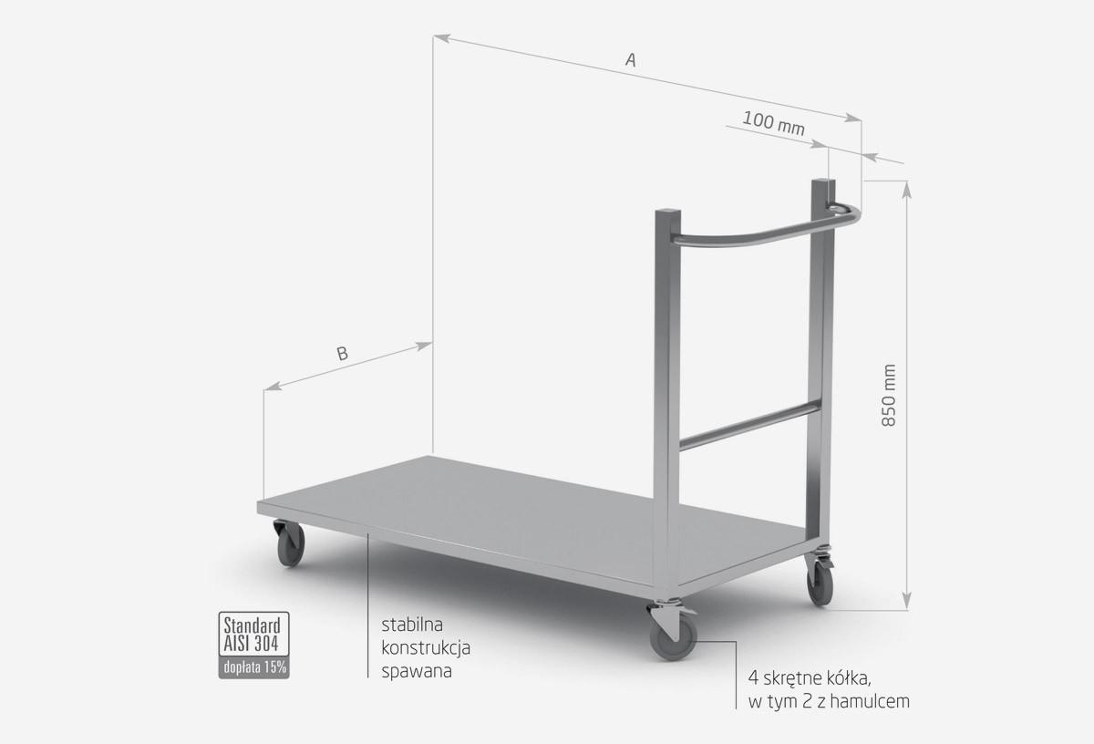 Wózek transportowy, platforma - POL-424