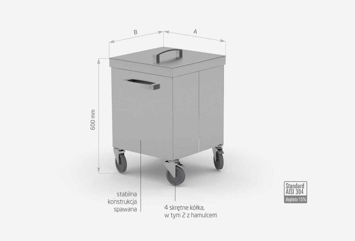 Pojemnik jezdny na odpadki - POL-429-K