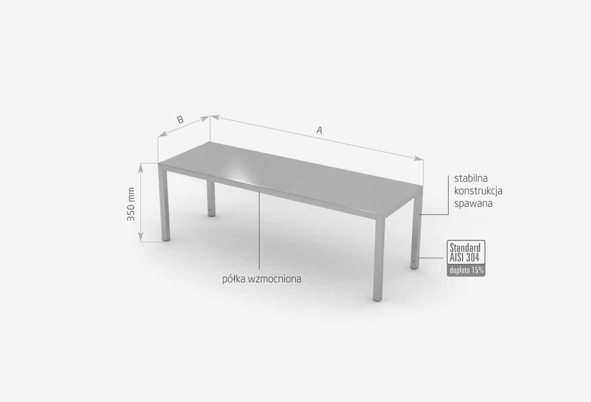 Nadstawka na stół jednopoziomowa - POL-501
