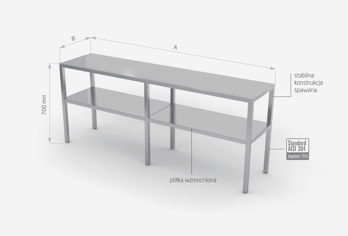 Nadstawka na stół dwupoziomowa - POL-502-6