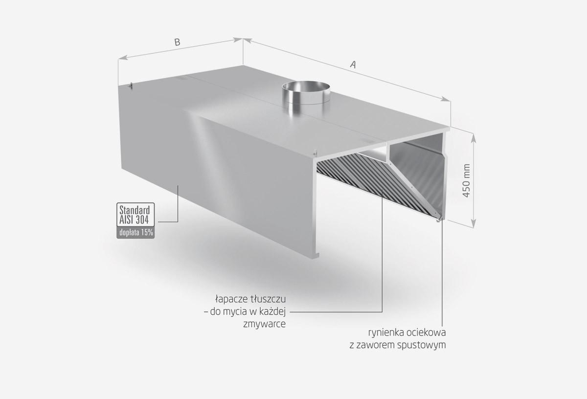 Okap przyścienny skrzyniowy - POL-710