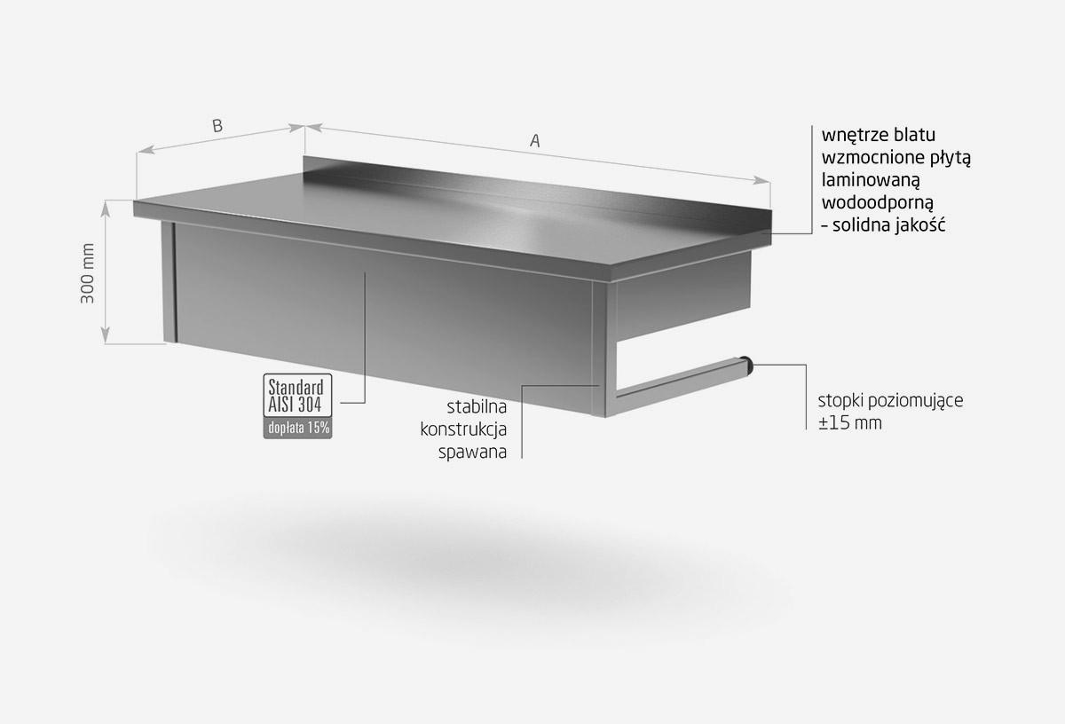 Stół przyścienny wiszący - POL-101-WI