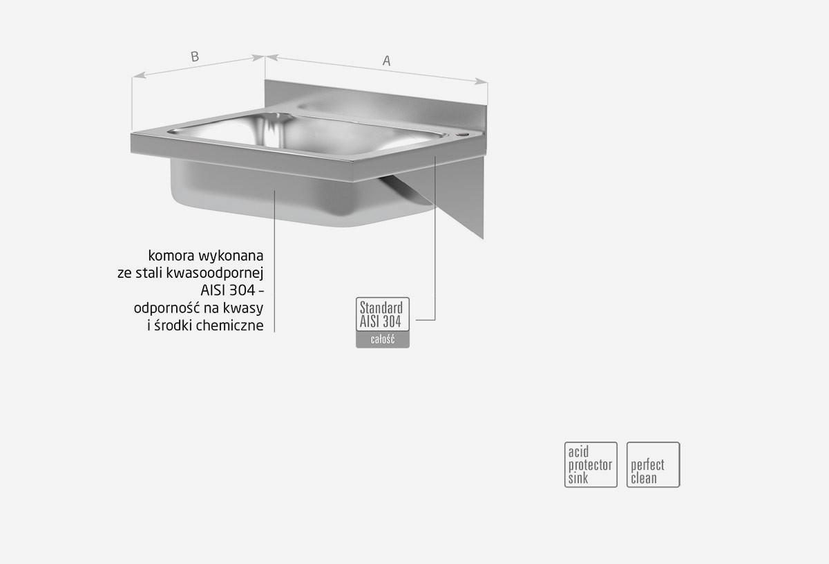Umywalka niezabudowana - komora prostokątna