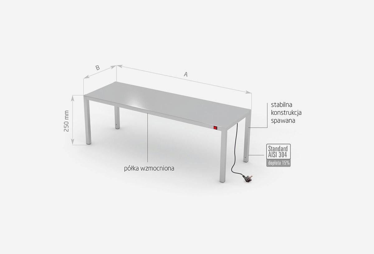 Nadstawka grzewcza na stół jednopoziomowa - POL-910