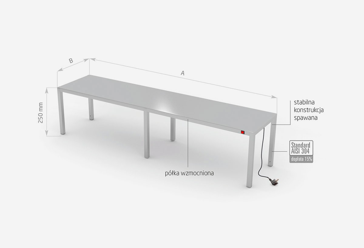 Nadstawka grzewcza na stół jednopoziomowa - POL-910-6