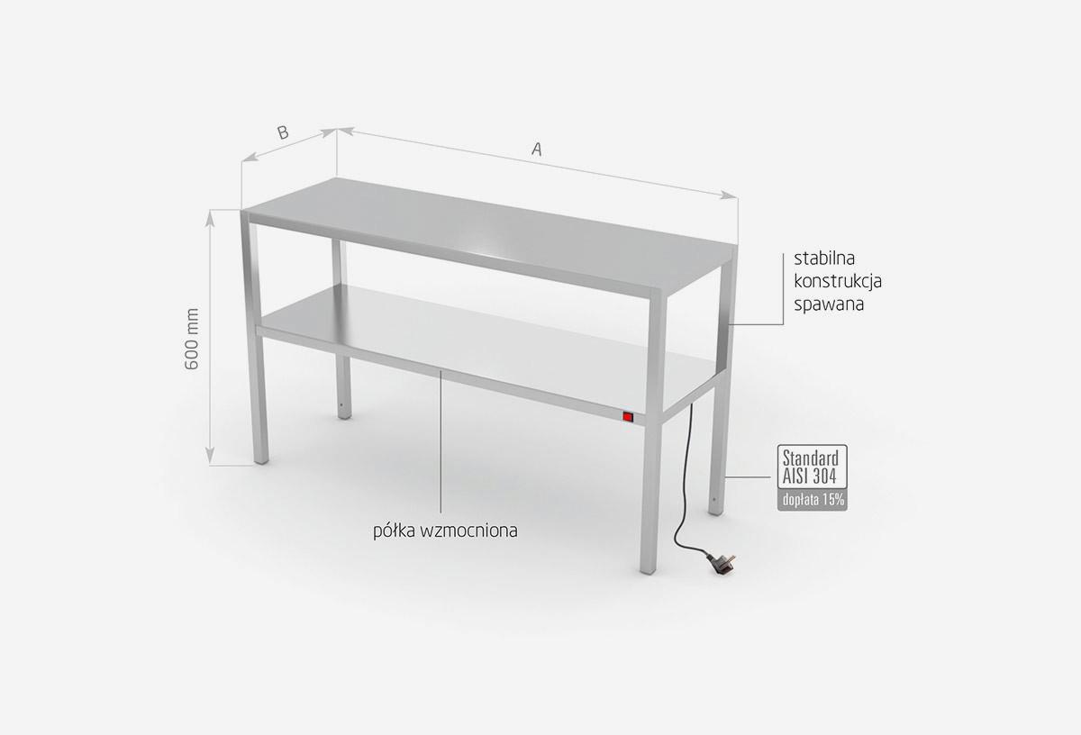 Nadstawka grzewcza na stół dwupoziomowa - POL-920