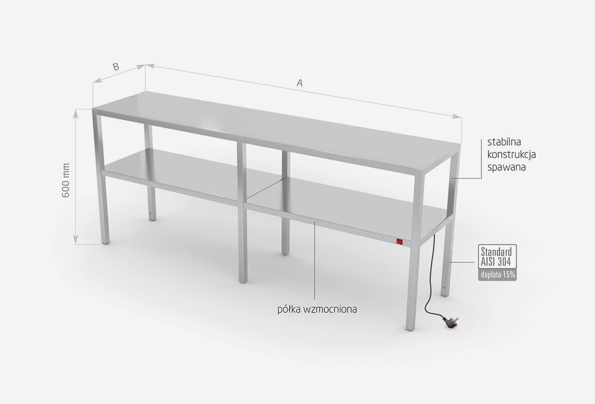 Nadstawka grzewcza na stół dwupoziomowa - POL-920-6